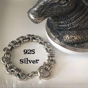 Other - Heavy silver toggle bracelet